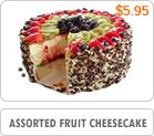 Assorted Fruit Cheesecake